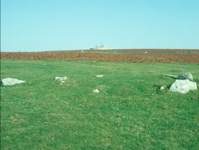 Remains of Bronze Age burial cairn © C J Webster