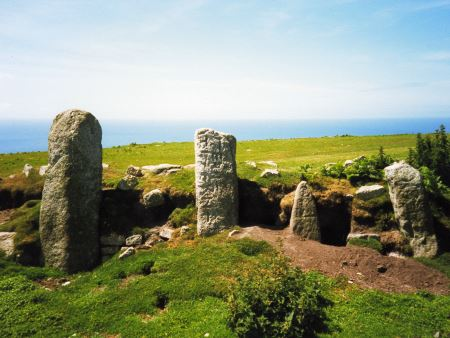 Early Christian Burial Stones at Beacon Hill